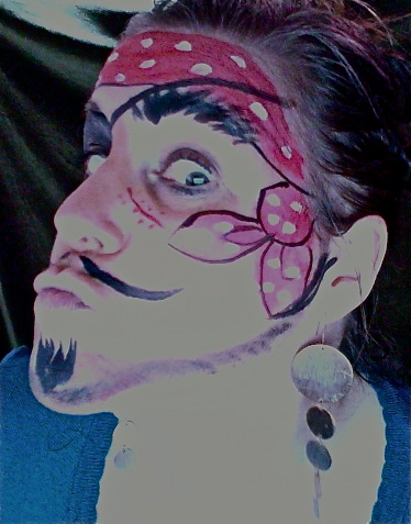 silly pirate facepainting