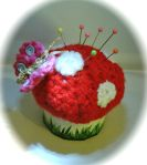 crochet pincushion tooth fairy box