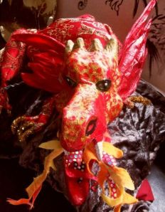Fire breathing dragon puppet
