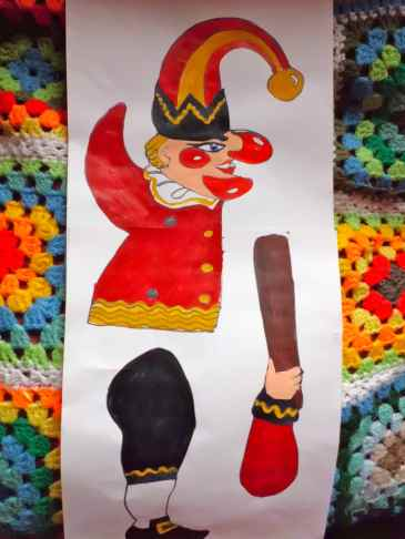 Mr Punch paper puppet
